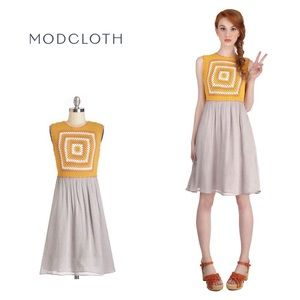 ModCloth The Honey dress - crochet